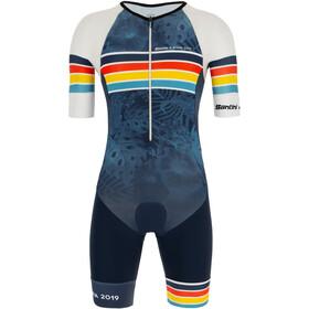 Santini Kona Kombinezon triathlonowy z krótkim rękawem Mężczyźni, nautica blue